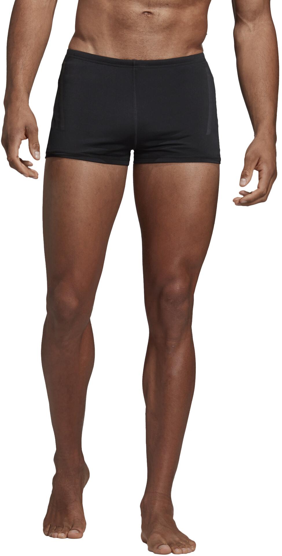 7f6d289e452253 adidas Pro 3-Stripes Zwemboxers Heren, black/carbon I Eenvoudig ...